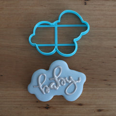 Baby Plaque Sign Style #1 Cookie Cutter