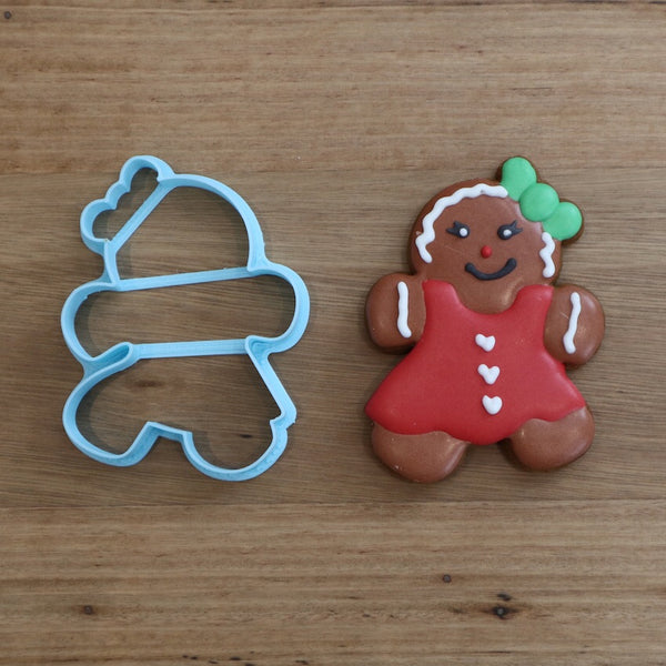 Gingerbread Girl Lady Cookie Cutter