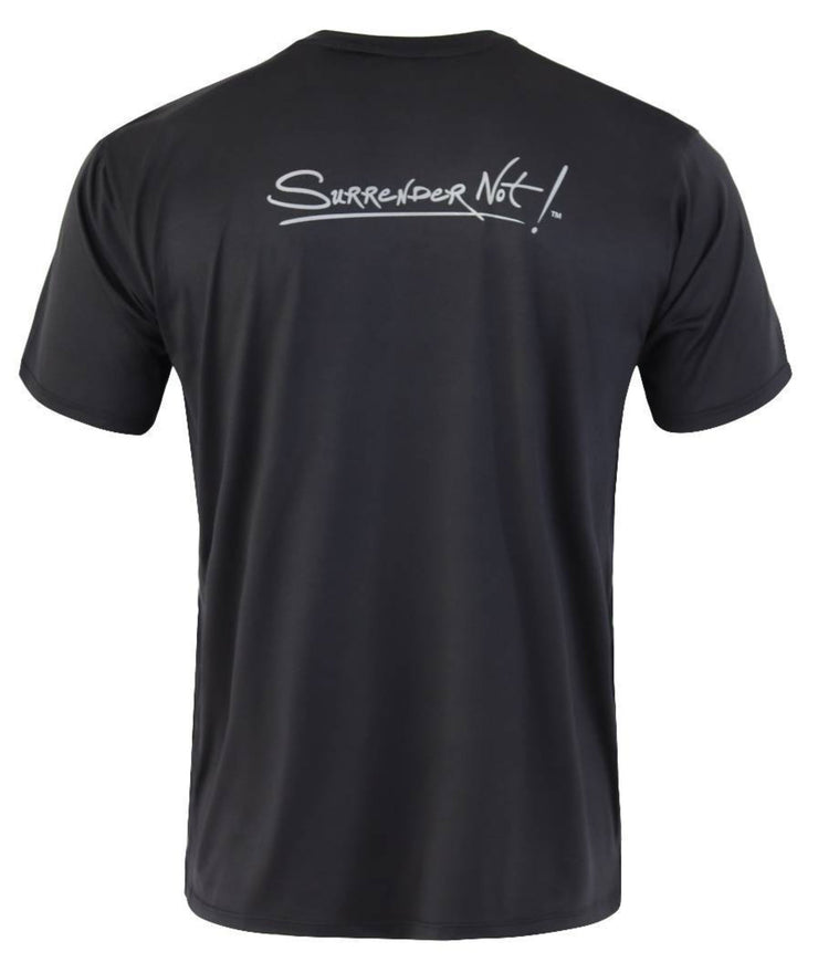 Surrender Not! Black T-Shirt: Two Logo Colors