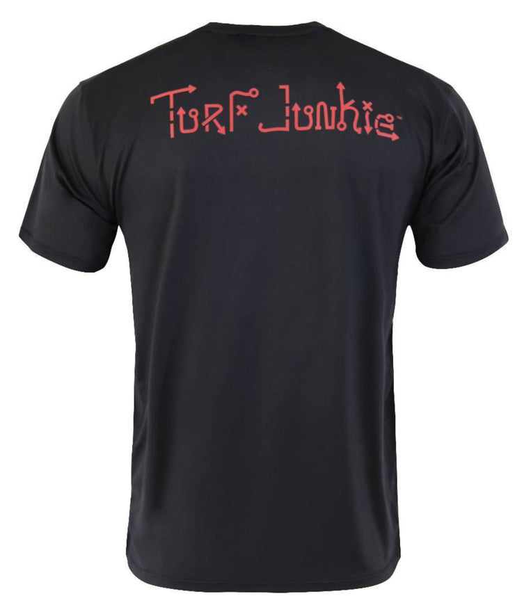 Turf Junkie Black T-Shirt: Two Logo Colors / Limited
