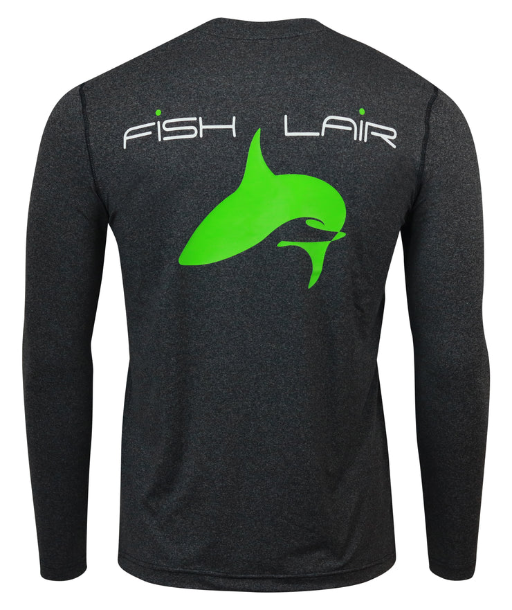 Fish Lair Long Sleeve Large Logo Design T-Shirt: Three Colors