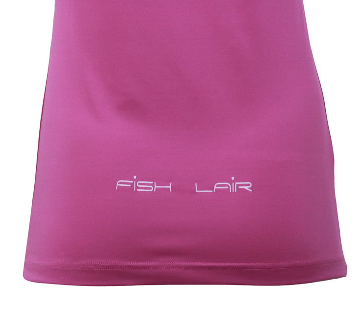 Fish Lair Women V-Neck Magenta T-Shirt