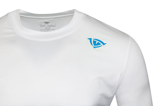 Fish Lair Long Sleeve Small Logo T-Shirt: One Color Pearl White
