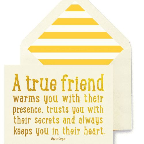 A True Friend Warms Greeting Card Greeting Cards Tabula Rasa Essentials