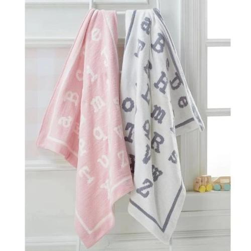 ABC Chenile Blanket Baby Tabula Rasa Essentials Gray