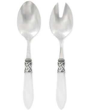 Aladdin Antique White Salad Server Set Salad Servers Vietri