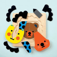 Animal Faces 4 Layer Puzzle - TEMPORARILY SOLD OUT Puzzle Hachette Book Group