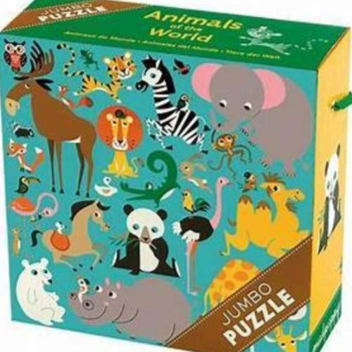 Animals of the World Jumbo Puzzle Puzzle Mudpuppy