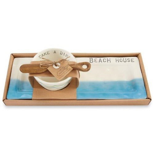 Beach House Appetizer Set Serveware Mud Pie