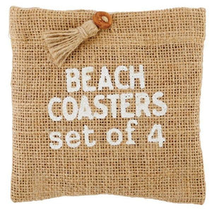 Beach Jute Coaster Set Serveware Tabula Rasa Essentials