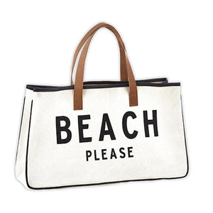 Beach Please Canvas Tote - SOLD OUT UNTIL AUGUST Tote Tabula Rasa Essentials