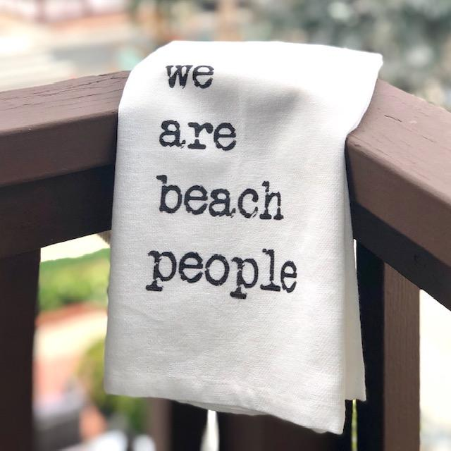 Beach Thirsty Kitchen Towel Flour Sack Towel TABULA RASA ESSENTIALS