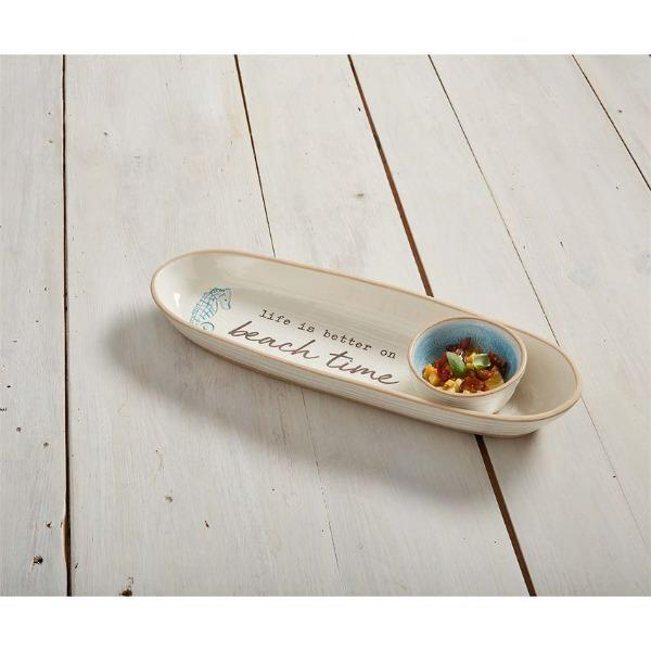 Beach Time Chip and Dip Set Serveware Mud Pie