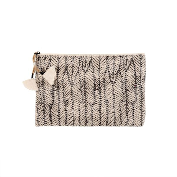 Black Heather Block Pouch - CLEARANCE Pouch Tabula Rasa Essentials