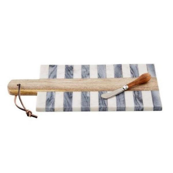 BW Stripe Marble Wood Inlay Board - Temporarily sold out Cheeseboard Tabula Rasa Essentials