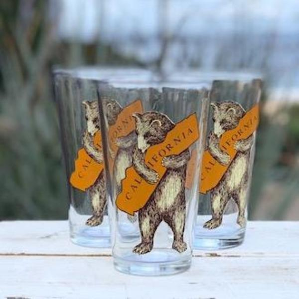 California Bear Hug Pint Glass Drinkware Tabula Rasa Essentials