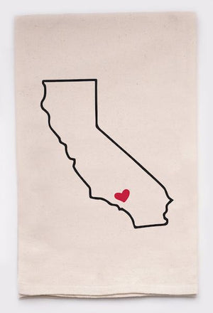 California Love Kitchen Towel Flour Sack Towel TABULA RASA ESSENTIALS