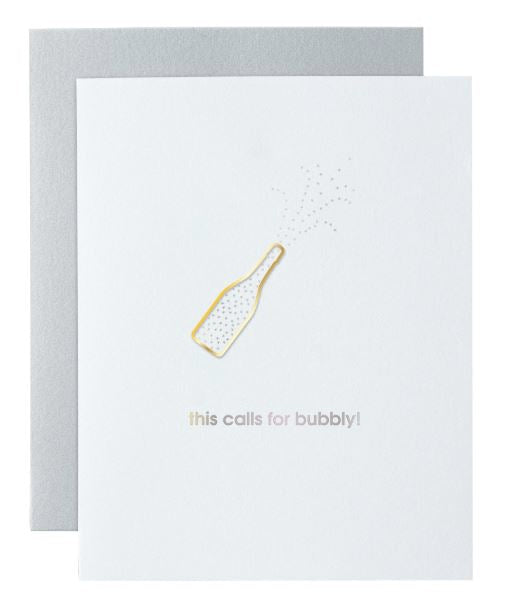 Calls For Bubbly Greeting Card Greeting Cards Tabula Rasa Essentials