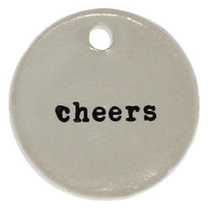 Cheers Ceramic Tag Greeting Cards Tabula Rasa Essentials