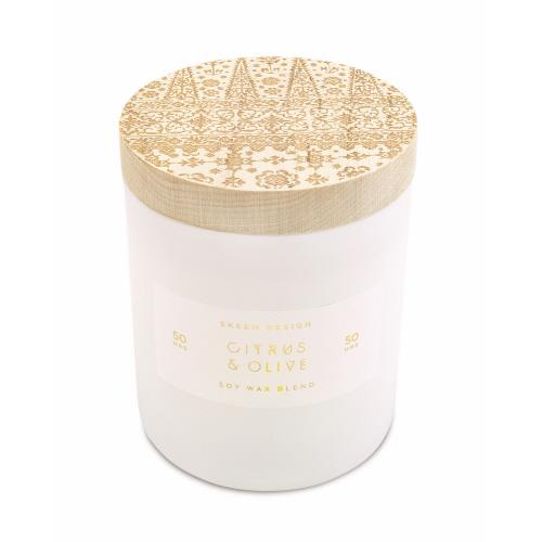 Citrus Olive Sm 3 wick Candle - Arriving Mid March Candles Skeem
