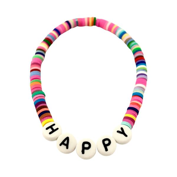 Clay Word Bead Bracelet (See Words!) Bracelet SHE By Design, LA Happy