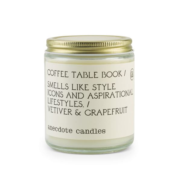 Coffee Table Book Candle Candles Ancedote Candles