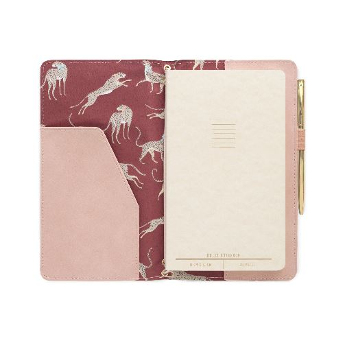 Dusty Blush Cheetah Folio Journal Tabula Rasa Essentials, Inc.