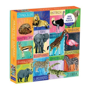 Family Painted Safari Puzzle Puzzle Random House