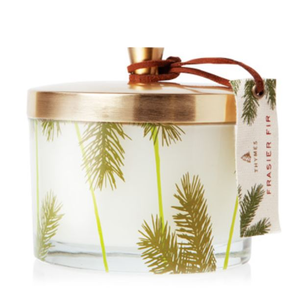 Frasier Fir Pine Needle 3 Wick Candle Holiday Candles The Thymes
