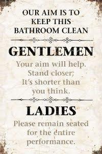 Gentlemen Ladies Barn Wood Sign Wall Art Tabula Rasa Essentials