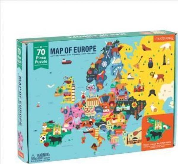 Geography Map of Europe Puzzle Puzzle Hachette Book Group