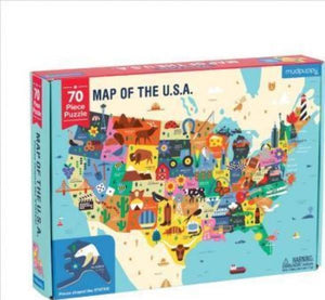 Geography Map of the USA Puzzle Puzzle Hachette Book Group