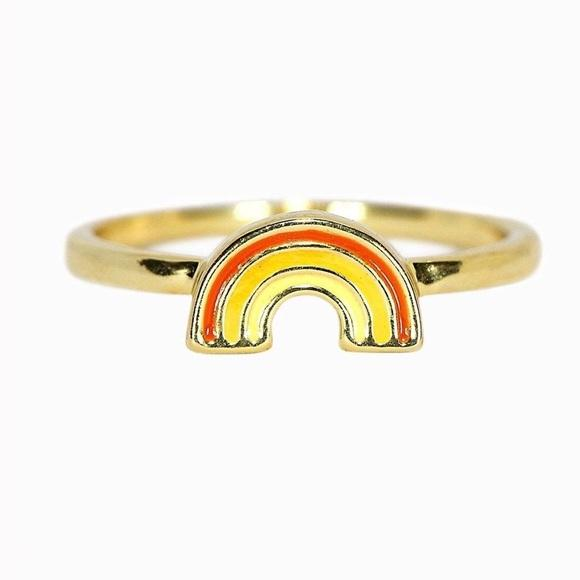 Gold Rainbow Ring Jewelry Puravida