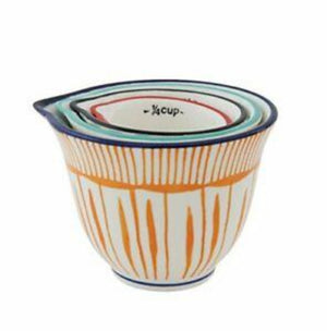 Hand-Painted Striped Measuring Cups Measuring Cups Creative Co-Op