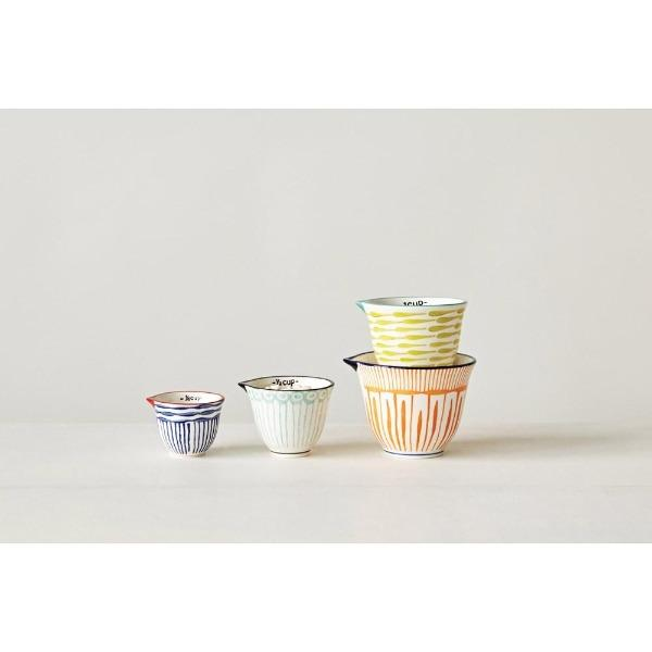 Hand-Painted Striped Measuring Cups S/4 Measuring Cups Tabula Rasa Essentials