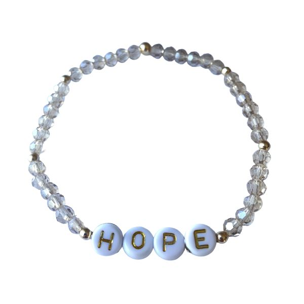 Hope Crystal Bead Bracelet Bracelet SHE By Design, LA