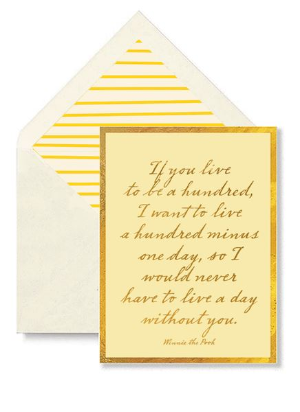 If You Live to be a Hundred Greeting Card Greeting Cards Tabula Rasa Essentials