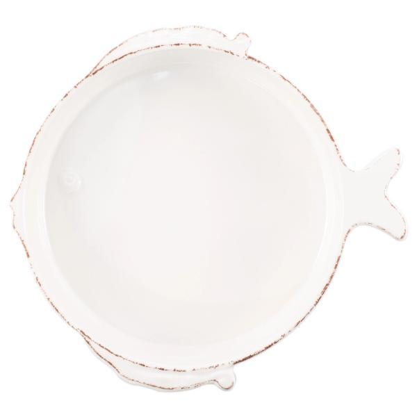 Lastra White Fish Melamine Serving Bowl - TEMPORARILY OUT OF STOCK Serveware Vietri