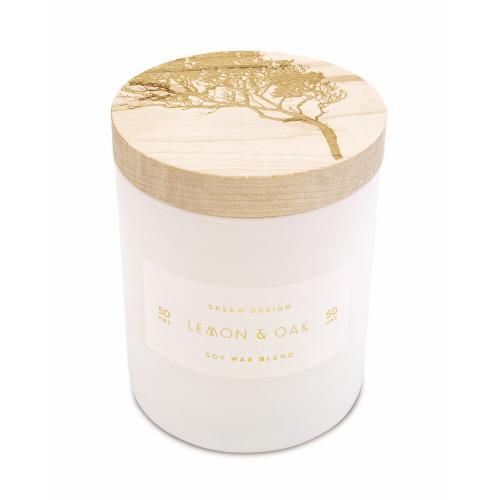 Lemon Oak Sm 3 wick Candle - Arriving Mid March Candles Skeem