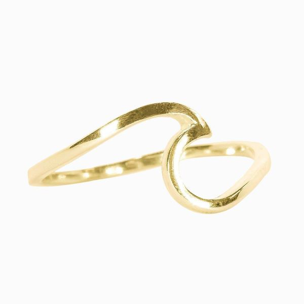 LIMITED STOCK Gold Wave Ring Jewelry Puravida