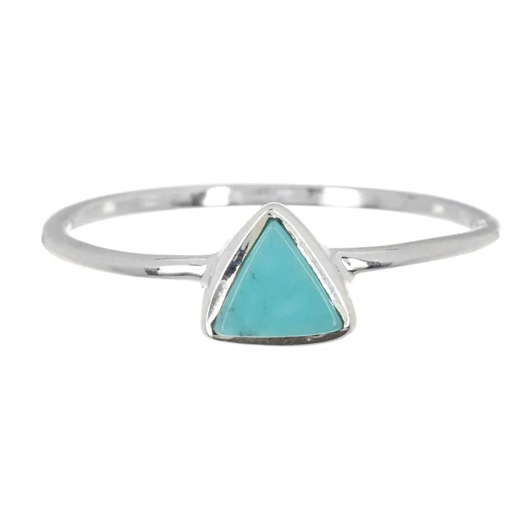 LIMITED STOCK Triangle Turquoise Stone Ring Jewelry Puravida