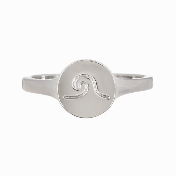 LIMTED STOCK Silver Coin Wave Ring Jewelry Puravida