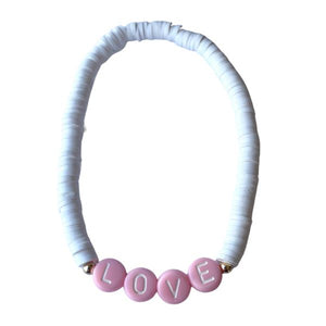 Love Clay Word Bead Bracelet Bracelet SHE By Design, LA