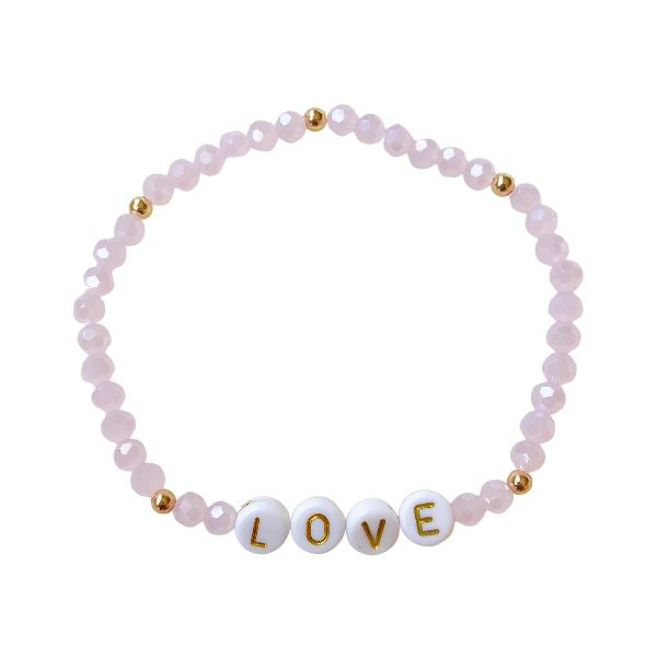 Love Crystal Bead Bracelet Bracelet SHE By Design, LA