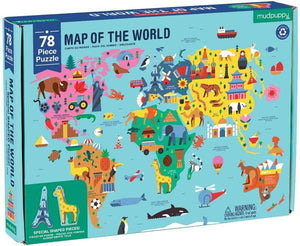 Map of the World Geography Puzzle - TEMPORARILY SOLD OUT Puzzle Hachette Book Group