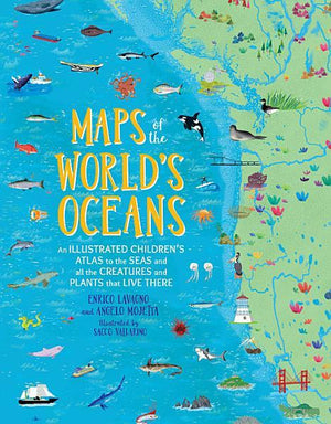 Map of the World Oceans Book - TEMPORARILY SOLD OUT Kids Books Tabula Rasa Essentials