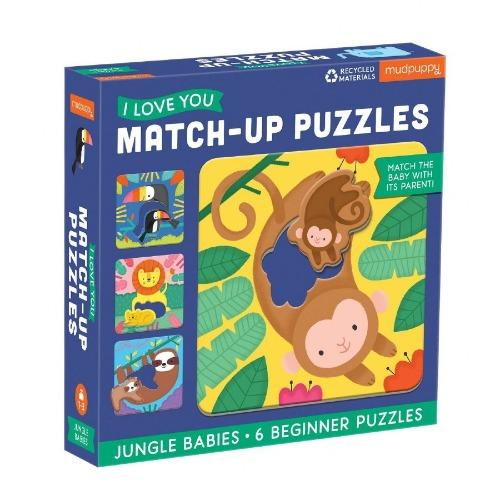 Match Up Jungle Babies Puzzle Puzzle Mudpuppy