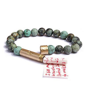 Matte African Turquoise Bracelet Jewelry Wishbeads