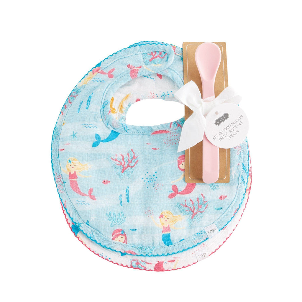 Mermaid Bib Spoon Set Baby Tabula Rasa Essentials