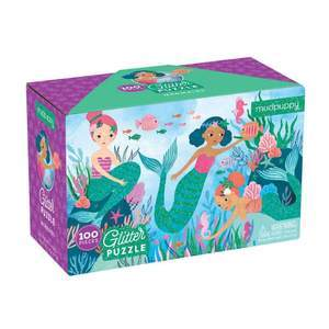 Mermaid Glitter Puzzle Kids Books Mudpuppy